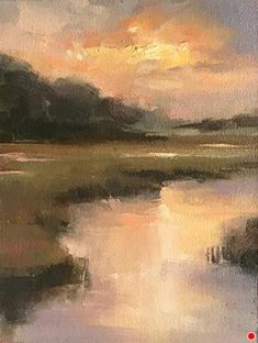 Study for Peace Like a River by jacki newell Oil ~ 8 x 6