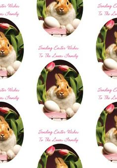 Easter wishes wrapping paper