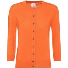 Jardin des Orangers Cashmere Cardigan ($330) ❤ liked on Polyvore featuring tops, cardigans, knitwear, orange, orange top, cashmere cardigan, cardigan top, jardin des orangers and orange cashmere cardigan
