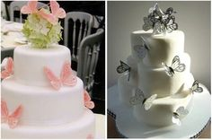 Weeding Cake - Floral & Butterfly  Design