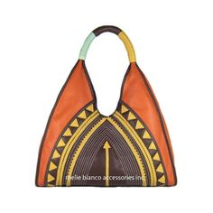 Melie Bianco Ethnic Bohemian Applique bag in Orange S5-320-OR (€43) found on Polyvore