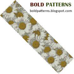 Etsy の Bead Pattern peyote stitch bracelet by BoldPatterns