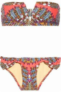 Mara Hoffman printed bandeau bikini. OBSESSED.