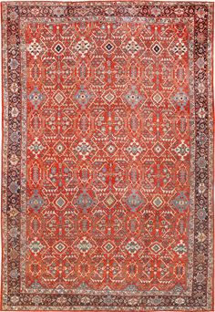 Antique Persian Mahal Sultanabad Rug, Country of Origin: Persia, Circa Date: 1900 14 ft x 20 ft 3 in (4.27 m x 6.17 m)