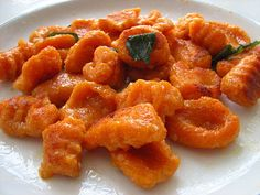 Sweet-Potato Gnocchi Recipe: Going without pasta is one of the hardest parts of the holiday for tots. This sweet-potato gnocchi recipe allows them to indulge in a bit of Italian cooking while maintaining a flour-free meal.  Source: Cooking With Amy