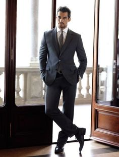 David Gandy modelling Marks and Spencer's winter menswear collection
