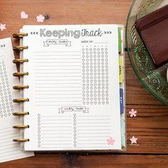 KEEPING TRACK Happy Planner Printed Refills, Create 365 The Happy Planner, Habit…