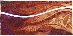 """Continuity,"" Karen Kamenetzky, dyed silk and wool, 2012"