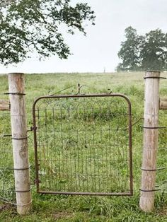 old gate, my grandma has one jut like this! I'd love to have it somewhere around my farm one day