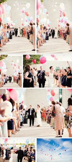 the perfect balloon wedding send off! ~  we ❤ this! moncheribridals.com