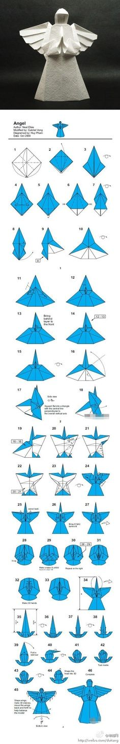Amazing! - how to fold an angel.