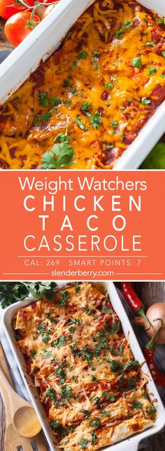 Weight Watchers Chicken Taco Casserole Recipes - Weight Loss Tips And How to Live a Healthy Lifestyle Slow Cooker Enchiladas, Slow Cooker Lasagna, Slow Cooker Soup, Slow Cooker Recipes, Chicken Taco Casserole, Chicken Soup Recipes, Casserole Recipes, Weight Watcher Dinners, Weight Watchers Chicken