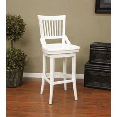 Liberty 30 in. Bar Stool in Antique White