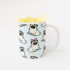 1 x Pug Pattern Mug Available in 2 different sizes: 6 oz (coffee/tea mug) or 11…