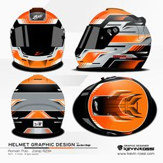 Romain Polo helmet design project - On Zamp RZ34 - With Aero Rom's Design. ©2017 - K. ROSSI - All rights reserved.