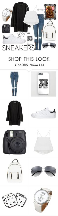 """""""Untitled #47"""" by vespyr ❤ liked on Polyvore featuring Topshop, adidas, Fuji, A.L.C., New Look, MNKR and Jewelonfire"""