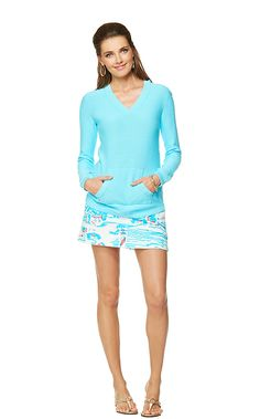 Seaside Sweater shown in Spa Blue  [also available in Resort White & True Navy]