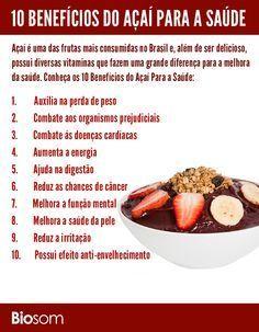 Clique na imagem ao lado e veja os 10 benefícios do açaí para a saúde…