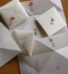 遊印を使ったラッピング(折形・包み)のご紹介 Letter Folding, Napkin Folding, Diy Envelope, Origami Box, Journal Paper, Business Design, Handmade Crafts, Packaging Design, Paper Art