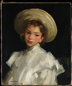 """Dutch Girl in White,"" Robert Henri, 1907, oil on canvas, 24 x 20"", Metropolitan Museum of Art."