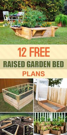 Garden Planning 12 Free Raised Garden Bed Plans - Here are 12 different raised garden bed designs that you can easily build yourself. Raised Garden Bed Plans, Raised Bed Garden Design, Building A Raised Garden, Raised Beds, Garden Box Plans, Cheap Raised Garden Beds, Raised Flower Beds, Diy Jardin, Unique Garden