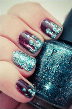 Glitter Drip Nails...
