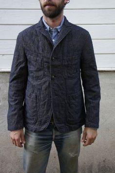 Engineered Garments Unlined Bedford Navy Wool Denim