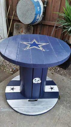 My Dallas Cowboys Dallas Cowboys Football, Art Football, Dallas Cowboys Crafts, Pittsburgh Steelers, Cowboy Crafts, Cowboy Room, Spool Tables, Wood Spool, How Bout Them Cowboys
