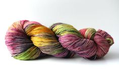 """Hand dyed yarn """"Spring Tea Party"""" by WrenHouseYarns"""