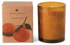 Botanical Glass Candle, Clementine/Clove