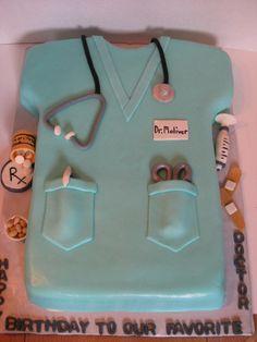 Scrubs Cake Cake Doctor cake and Nurse cakes