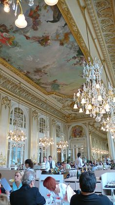 The restaurant In the Musée d'Orsay ~ The Orsay Restaurant, Paris - had lunch in there some years ago, it's beautiful.