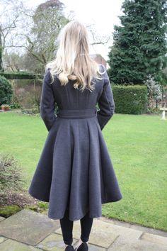 Grey coat made using McCalls M6800 Pattern
