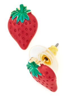 The Berry Best Earrings. Thank you berry much! #red #modcloth