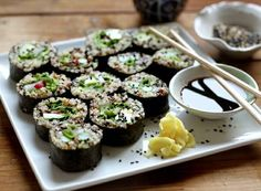 Quinoa Spring Sushi. What a great idea. I love making sushi at home....gotta try this!!!!!!!!!!!!