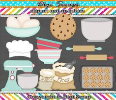 Baking Christmas Cookies digital Clip Art Set by Digiscrapsau