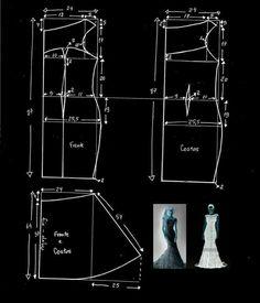 Long dress pattern