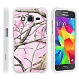 Samsung Core Prime Case, Perfect Fit Cell Phone Case Hard Cover with Cute Design Patterns for Samsung Galaxy Core Prime G360 (Boost Mobile) from MINITURTLE | Includes Clear Screen Protector and Stylus Pen - Pink Hunter Camouflage