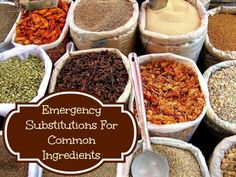 Emergency Substitutions for Common Ingredients