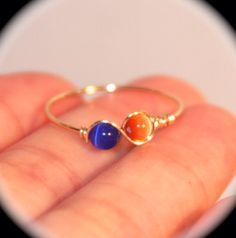 Bead infinity ring