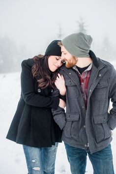 Casual and Cozy Winter Engagement   Imago Dei Photography   Warm and Cozy Snowfall Engagement Portraits