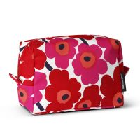 Verso Mini-Unikko toiletry bag - red-white - Marimekko