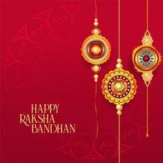 Download Happy Raksha Bandhan Red Background With Decorative Rakhi for free