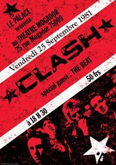 THE CLASH Concert Poster - converting francs to dollars and compensating for… Rock Posters, Band Posters, Music Posters, Vintage Concert Posters, Vintage Posters, New Wave, The English Beat, Punk Poster, Vinyl Poster