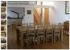 Chunky Reclaimed Wood Dining & Kitchen Tables - 9ft x 3ft table seats 10 and is £960  http://www.eatsleeplive.co.uk