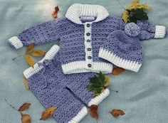 3pc Baby Set Jacket Pant and Hat by janice392 on Etsy