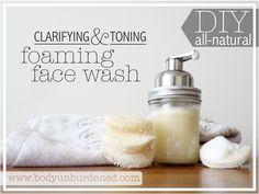 DIY all-natural foaming face wash