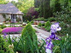 Oblique view of my garden, third week in April.