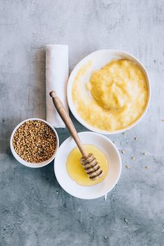 This simple honey and fenugreek seed face mask works for every skin type. It's anti-inflammatory and it gently exfoliates skin too.