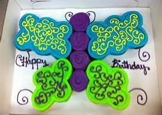 Image result for Butterfly Cupcake Cake